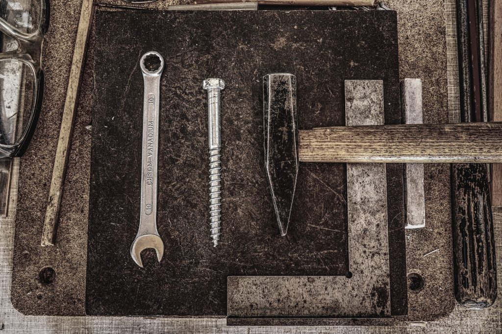 tools, wrench, screw
