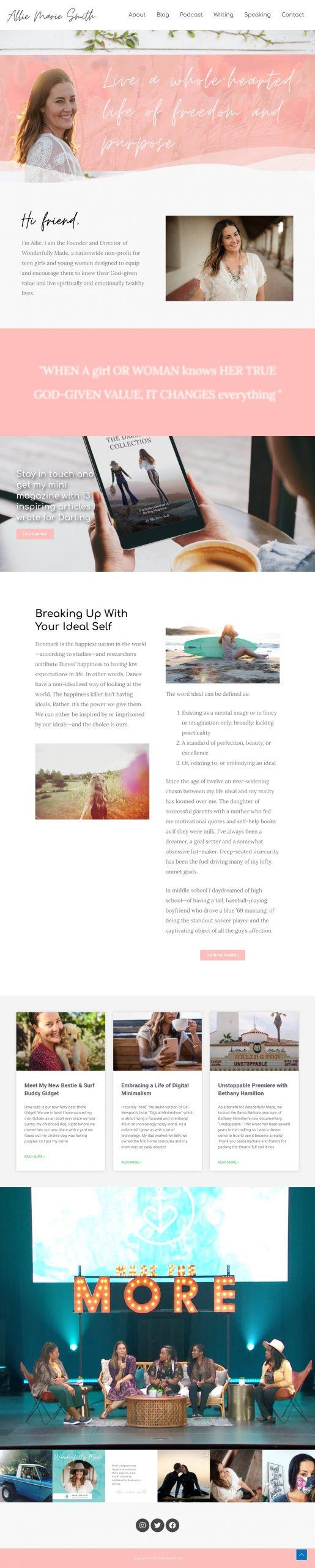 Screenshot of Webpage work