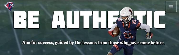be authentic header website header