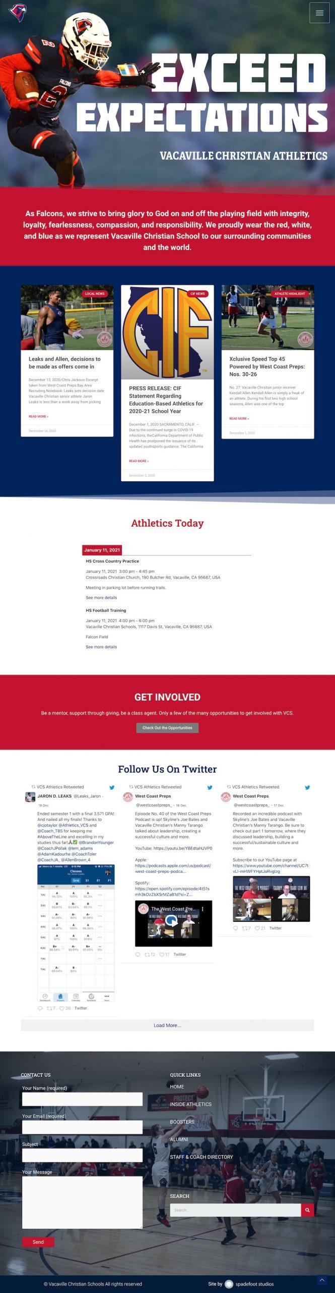 VCS homepage screenshot