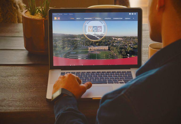 Vacaville Christian Homepage Mockup