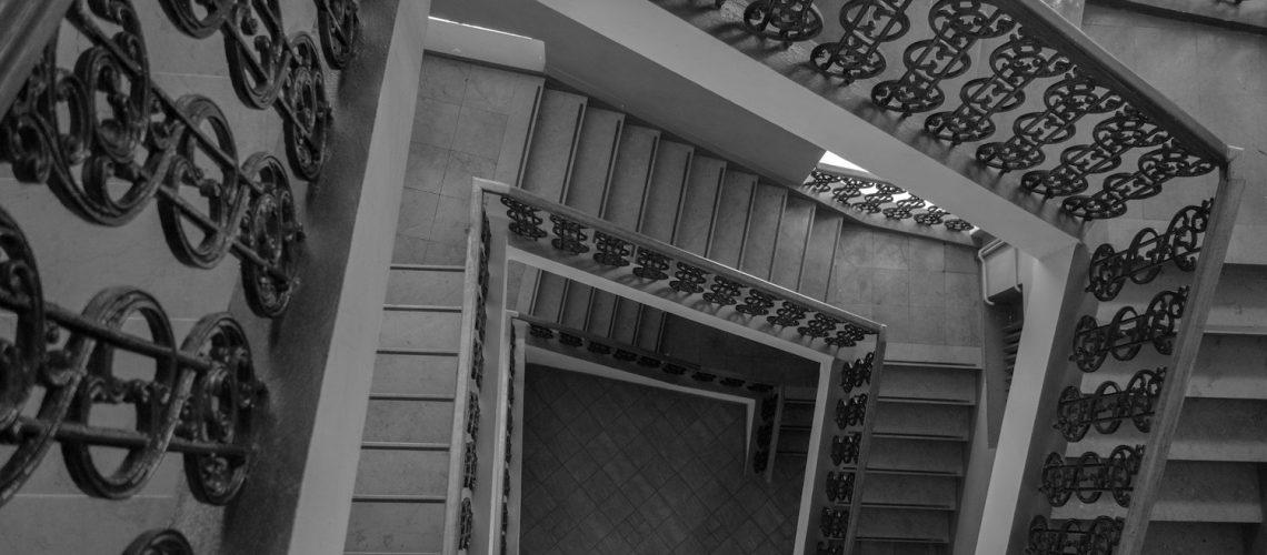 stairway view looking down